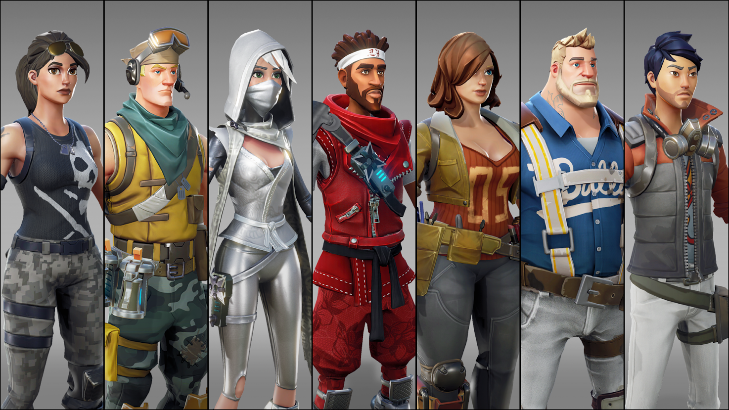Great character designs for all the heroes and survivors.